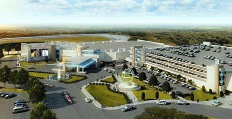An artist's rendering of the proposed slots parlor in Plainville.